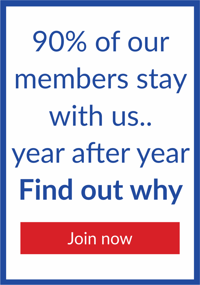 Members stay with us year after year